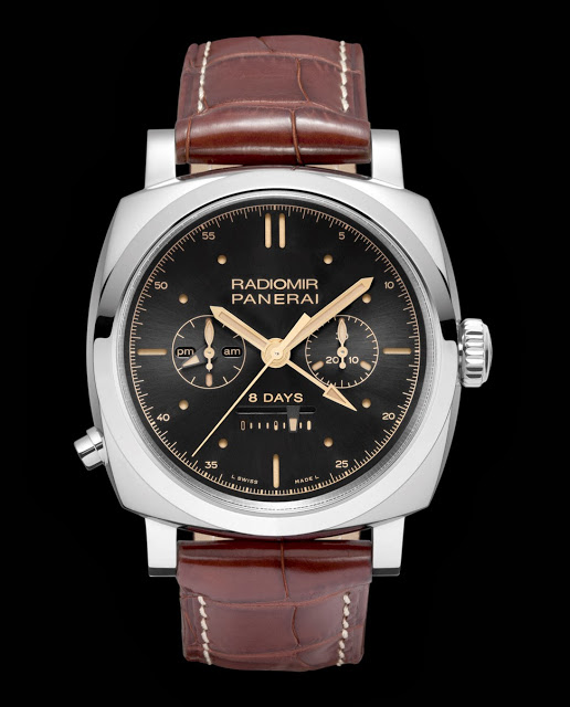 The Rose Gold and Stainless Steel Radiomir 1940 Chrono Monopulsante 8 Days GMT Replica Watch
