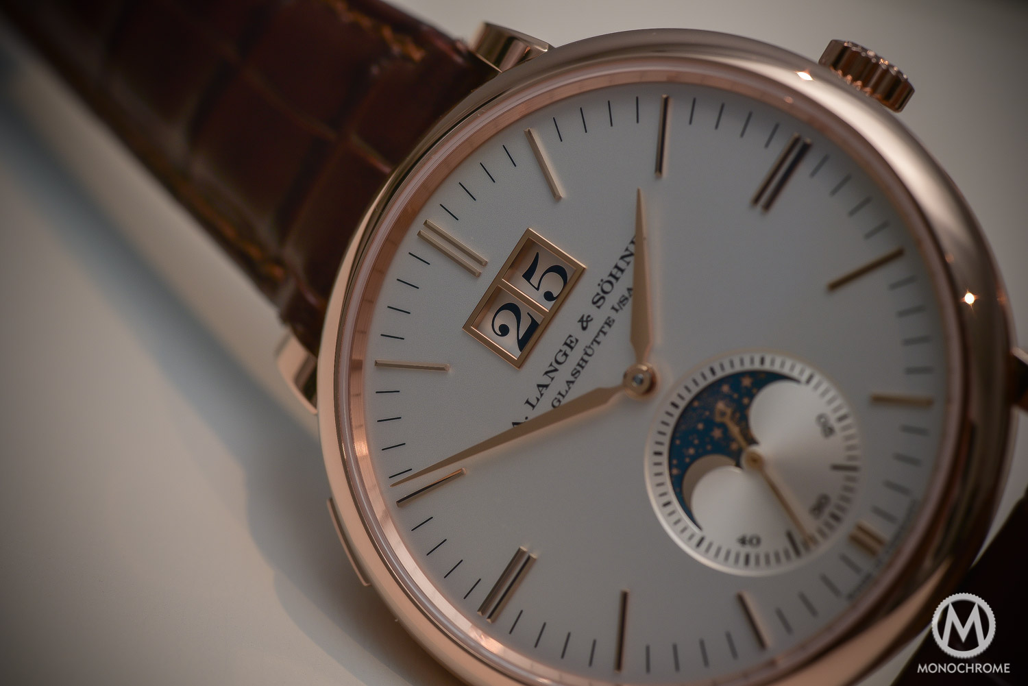 A. Lange & Sohne Saxonia Monophase Rose Gold replica