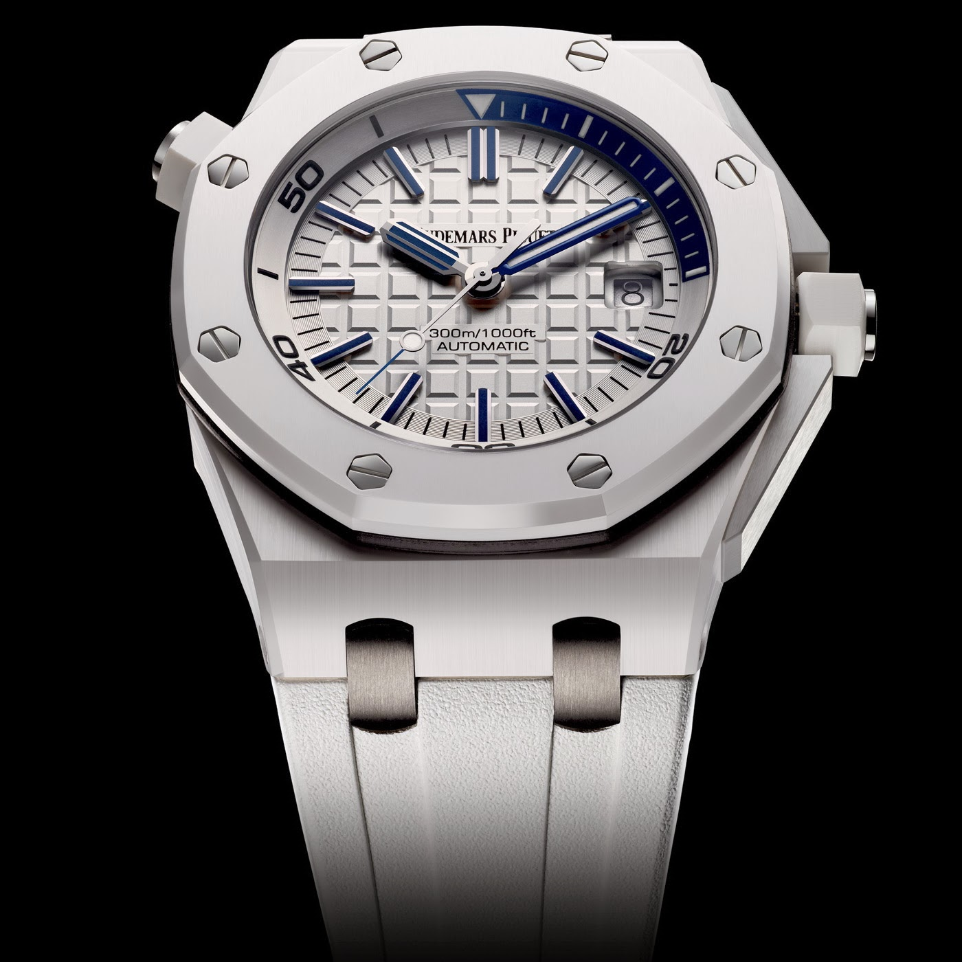 White Ceramic Audemars Piguet Royal Oak Offshore Diver replica