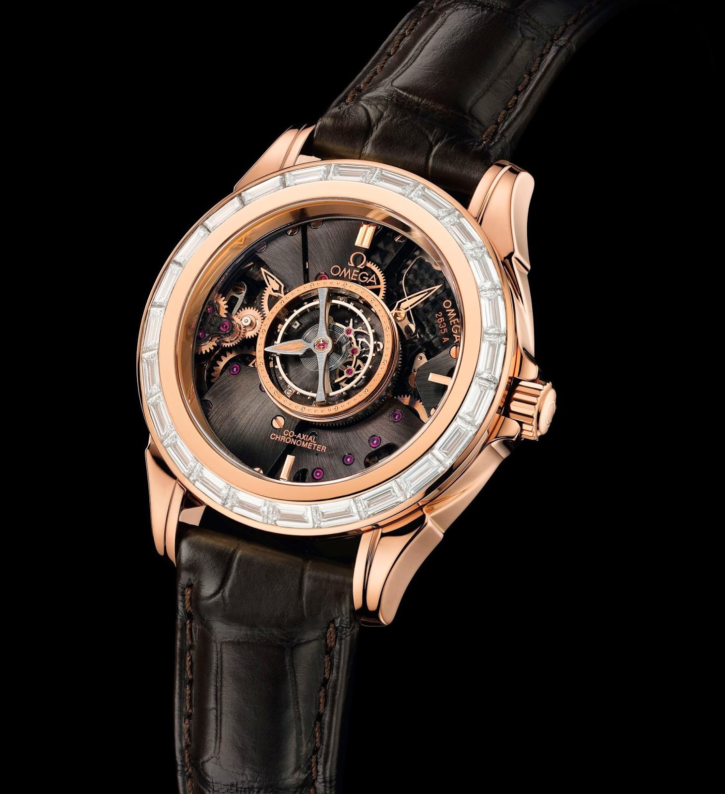 Omega De Ville Central Tourbillon replica watch