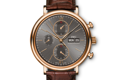 Complicated IWC Portofino Chronograph Day Date replica watch