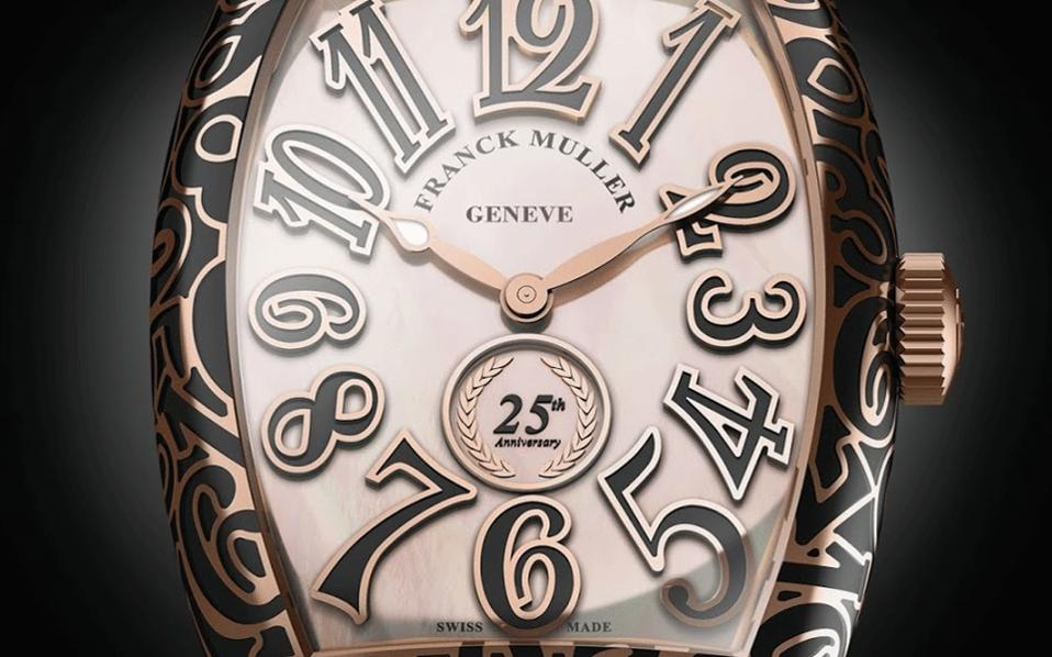 Gold Ceramic Franck Muller Cintrée Curvex replica watch