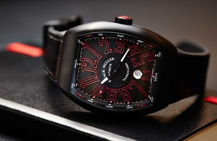 Black PVD Franck Muller Vanguard Dangerous Curves replica